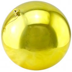 Новогодние шары Золотые (блестящие)