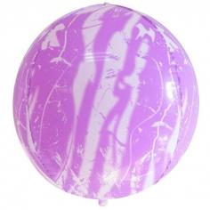 Шар Сфера 3D, Мрамор, Розовый (в упаковке)