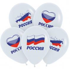 Шар Россия Триколор, Белый, 2 ст