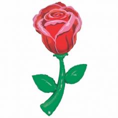 Шар Фигура, Роза (в упаковке)