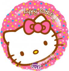 Шар Круг, Хэллоу Китти СДР в упаковке / Hello Kitty HBD