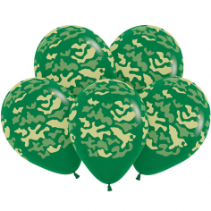 Шар Камуфляж, Темно-Зеленый, 5 ст