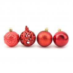 Новогодние шары Красные 6 см