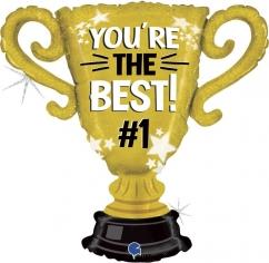 Шар Фигура, Кубок Чемпиона, Ты Лучший #1, Золото (в упаковке)