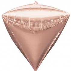 Шар 3D Алмаз Розовое Золото / Diamondz Rose Gold (в упаковке)