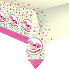 Скатерть полиэтиленовая Лошадка Малышка розовая
