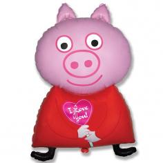 Шар Мини-фигура Поросенок Я тебя люблю / Piglet (в упаковке)
