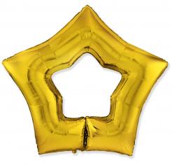 Шар Звезда-контур, Золото / Gold (в упаковке)