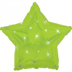 Шар Звезда, Искры, Лайм (в упаковке)