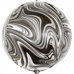 Шар Сфера 3D, Мрамор, Черный (в упаковке)