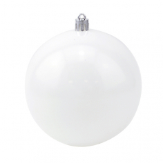Новогодний шар Белый (блестящий)