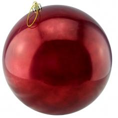Новогодние шары Бордо (перламутровые)