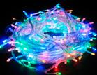 Светодиодная гирлянда с переключателем режимов / 100 Разноцветных светодиодов на прозрачном проводе
