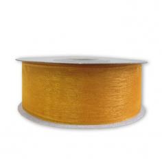 Лента Органза Золото 25 мм