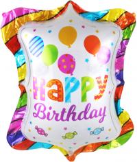 Шар Фигура, С Днем Рождения (шарики и конфеты)