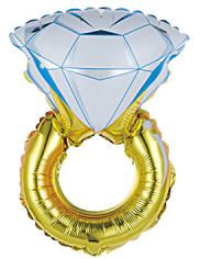Шар фигура, Кольцо с бриллиантом (в упаковке)