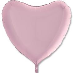 Шар Сердце, Розовый, Пастель / Pink (в упаковке)