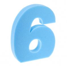 Цифра Неон Синяя