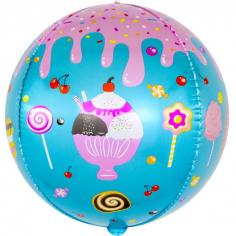 Шар Сфера 3D, Десерты и сладости (в упаковке)