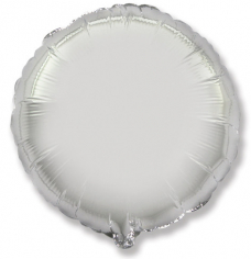Шар Круг, Серебро / Silver (в упаковке)