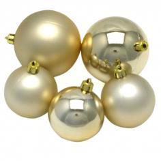 Новогодние шары Пудровые