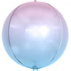 Шар Сфера 3D, Сиреневый, Градиент (в упаковке)