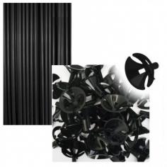 Комплект Палочка 54см+Зажим Черный Макси 40шт/уп