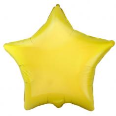 Шар Звезда, Жёлтый / Yellow (в упаковке)