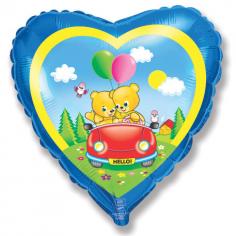 Шар Сердце, Мишки в машине / Bear Car