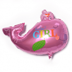 Шар Фигура, Кит (девочка), Розовый