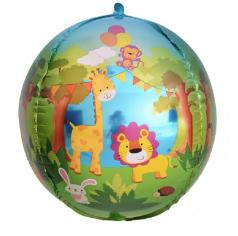 Шар Сфера 3D, Веселые животные (джунгли) (в упаковке)