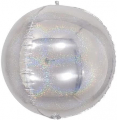 Шар Сфера 3D, Серебро, Голография (в упаковке)