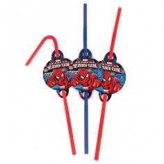 Трубочки для коктейля Человек-Паук