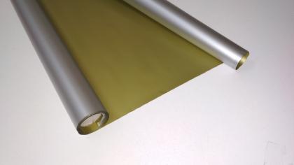 Матовая пленка двухсторонняя (Корейская)  серебро/золото
