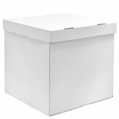 ДЕФЕКТ Коробка для воздушных шаров, Белый, 70*70*70 см