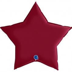 Шар Звезда, Вишневый, Сатин / Cherry (в упаковке)