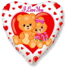 Шар Сердце, Влюблённые медвежата / Love sweet Bears