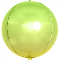Шар Сфера 3D Светло-зеленый, Градиент (в упаковке)