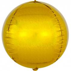 Шар Сфера 3D, Золото, Голография (в упаковке)