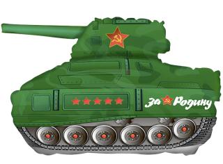 Шар Мини-фигура Танк Т-34, Зеленый (в упаковке)