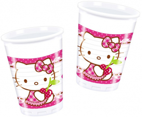 Стаканы пластиковые Хэллоу - Китти / Hello Kitty Hearts