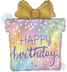 Шар Фигура, Подарок на День Рождения, Голография (в упаковке)