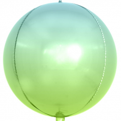Шар Сфера 3D, Светло-зеленый/Голубой, Градиент (в упаковке)