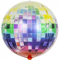 Шар Сфера 3D, Сверкающее диско, Разноцветный, Градиент (в упаковке)