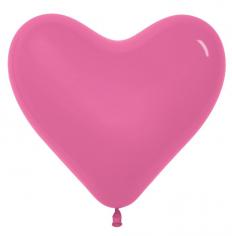 Сердце Тёмно Розовый, Пастель / Fuchsia