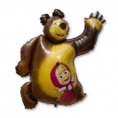 Шар Фигура, Маша и Медведь (в упаковке)