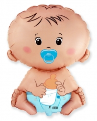 Шар Мини-фигура Малыш с соской / Baby Blue (в упаковке)