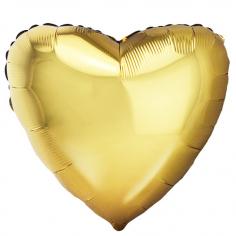 Шар Сердце, Античное Золото / Antique Gold (в упаковке)