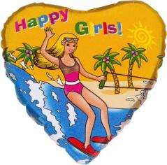 Шар Сердце, Девушка на пляже / Beach girl