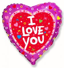 Шар Сердце, Я тебя люблю Сердечки и крестики / Love shine